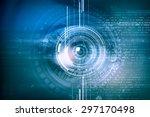 close up of female digital eye... | Shutterstock . vector #297170498