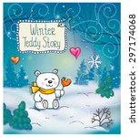funny winter christmas story... | Shutterstock .eps vector #297174068