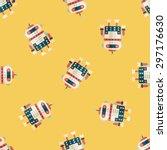 robot concept flat icon eps10...   Shutterstock .eps vector #297176630
