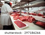 meats of all types raw before... | Shutterstock . vector #297186266