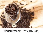 coffee bean in the glass | Shutterstock . vector #297187634