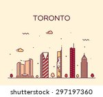 toronto skyline  detailed... | Shutterstock .eps vector #297197360
