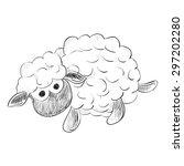 vector sketch of toy sheep.... | Shutterstock .eps vector #297202280