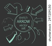 sketch arrows vector set | Shutterstock .eps vector #297209150