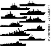 contour image of amphibious... | Shutterstock . vector #297226544