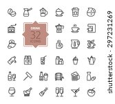 outline web icon set   drink ... | Shutterstock .eps vector #297231269