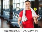 men  exercising  healthy... | Shutterstock . vector #297239444