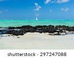 ile aux cerfs island  mauritius | Shutterstock . vector #297247088