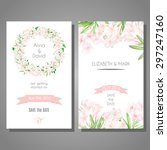 vector cute cards templates... | Shutterstock .eps vector #297247160