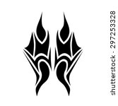 tribal tattoos design element.... | Shutterstock .eps vector #297253328