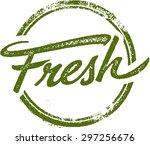 fresh rubber stamp | Shutterstock .eps vector #297256676