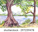 Big Tree On The River Bank....