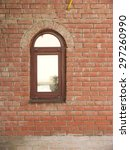 Arched Window In A Brick Wall