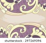 beige pattern with purple...