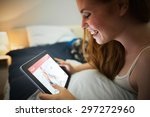 dating website against pretty... | Shutterstock . vector #297272960