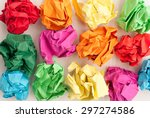 Scattered Colorful Crumpled...