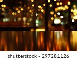 blur bokeh reflection light on... | Shutterstock . vector #297281126