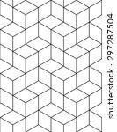 futuristic continuous contrast... | Shutterstock .eps vector #297287504