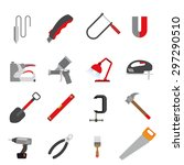 Color Icons Of Tools. Contains...
