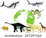 biggest animals in history of... | Shutterstock .eps vector #297297164