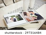 white classic wedding book and... | Shutterstock . vector #297316484