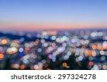 city lights abstract circular...   Shutterstock . vector #297324278