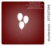 balloon sign icon. birthday air ... | Shutterstock .eps vector #297327398