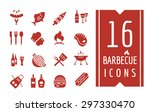 Barbecue And Food Icons Vector...