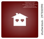 house with heart icon. icon.... | Shutterstock .eps vector #297333590