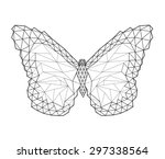 polygon butterfly tattoo | Shutterstock .eps vector #297338564