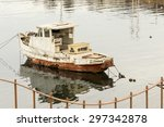 A Derelict Fishing Boat In The...