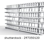 blank products on shelf with... | Shutterstock . vector #297350120