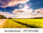 rural road passing through... | Shutterstock . vector #297351584