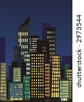 city skyline at night with... | Shutterstock .eps vector #2973544