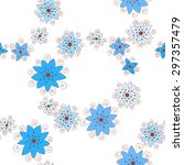 flower vector seamless pattern. | Shutterstock .eps vector #297357479