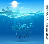 underwater background | Shutterstock .eps vector #297370538