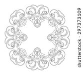 ornament black white card with... | Shutterstock .eps vector #297373109