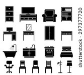 furniture icons vector | Shutterstock .eps vector #297377720