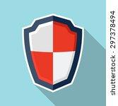 shield illustration.  | Shutterstock .eps vector #297378494
