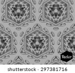 striped hand painted vector... | Shutterstock .eps vector #297381716
