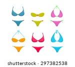 colorful bikini set | Shutterstock .eps vector #297382538