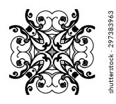 ornament black white card with... | Shutterstock .eps vector #297383963