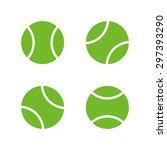 tennis ball icons  modern... | Shutterstock .eps vector #297393290