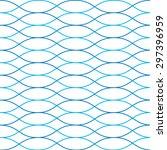 seamless geometric wavy vector... | Shutterstock .eps vector #297396959