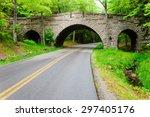 Arched Bridge At Acadia...