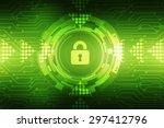 security concept  lock on... | Shutterstock . vector #297412796