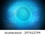 security concept  lock on...   Shutterstock . vector #297412799
