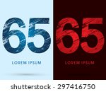 65  font cool and hot  ice and... | Shutterstock .eps vector #297416750