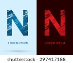 n  font cool and hot  ice and... | Shutterstock .eps vector #297417188