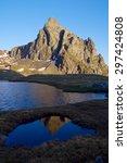 anayet peak  2545 meters  and... | Shutterstock . vector #297424808